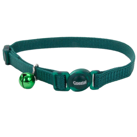 Coastal Pet Products Safe Cat® Adjustable Snag-Proof Breakaway Collar in Hunter Green