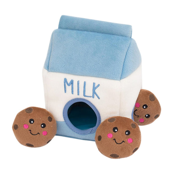 ZippyPaws Zippy Burrow Milk and Cookies Puzzle Dog Toy