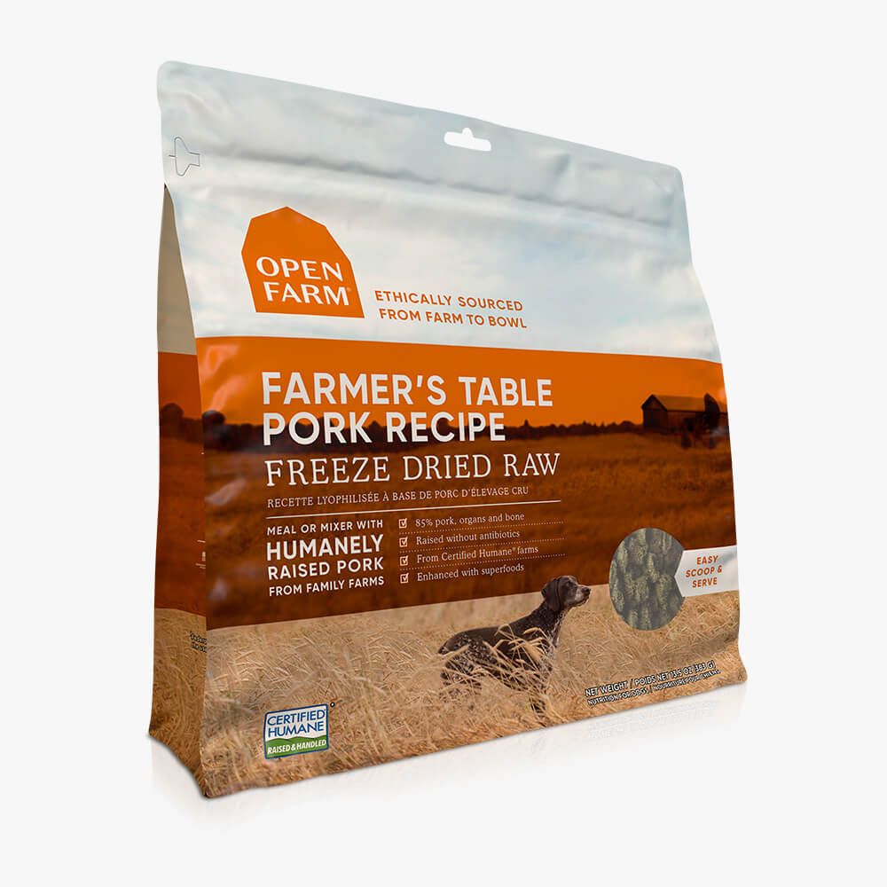 Open Farm Farmers Table Pork Recipe Freeze Dried Raw Dog Food