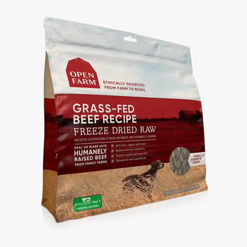 Open Farm Grassfed Beef Recipe Freeze Dried Raw Dog Food