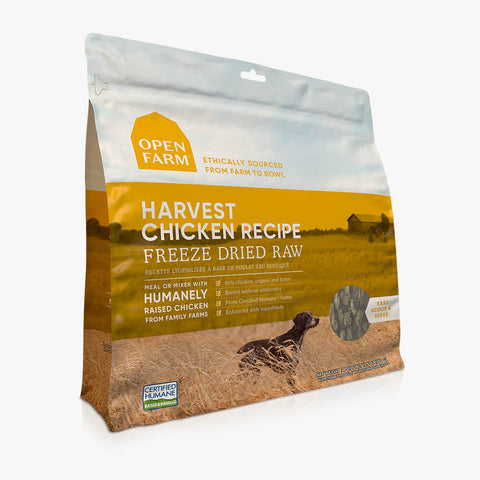 Open Farm Harvest Chicken Recipe Freeze Dried Raw Dog Food