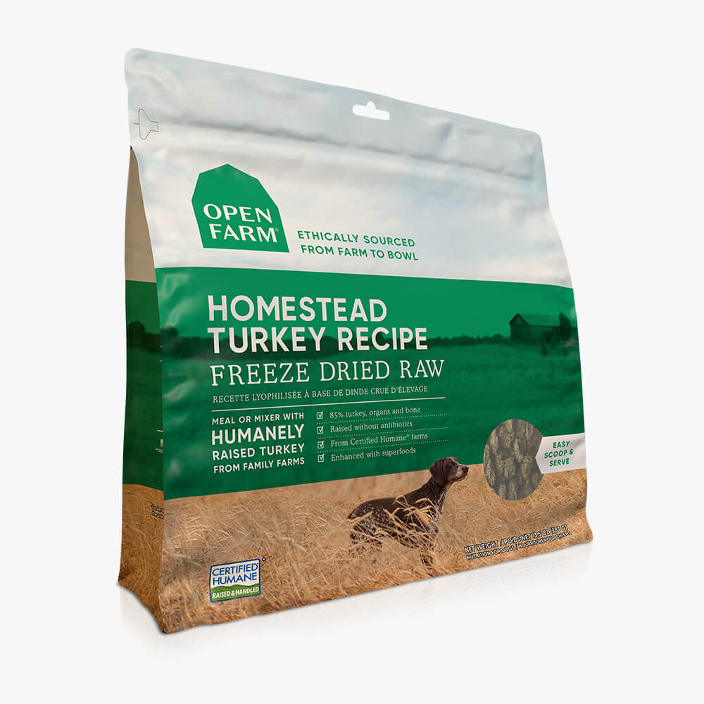 Open Farm Homestead Turkey Recipe Freeze Dried Raw Dog Food