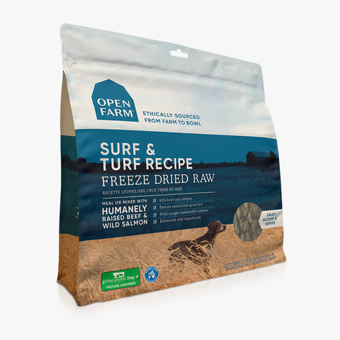 Open Farm Surf and Turf Recipe Freeze Dried Raw Dog Food