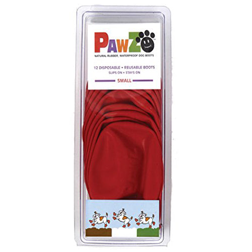 Pawz Waterproof Dog Boots, Red, 12 Count