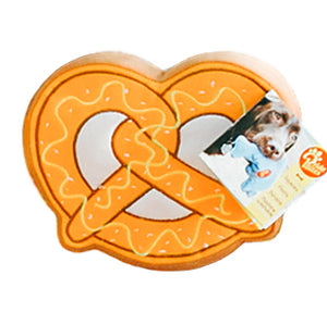 PrideBites Philly Pretzel Plush Dog Toy
