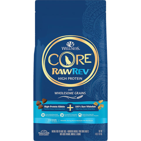 Wellness CORE RawRev Wholesome Grains Ocean Recipe High Protein Dry Dog Food