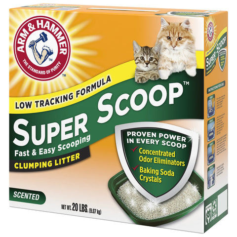 Arm & Hammer Litter Super Scoop Fresh Clean Scented Clumping Clay Cat Litter