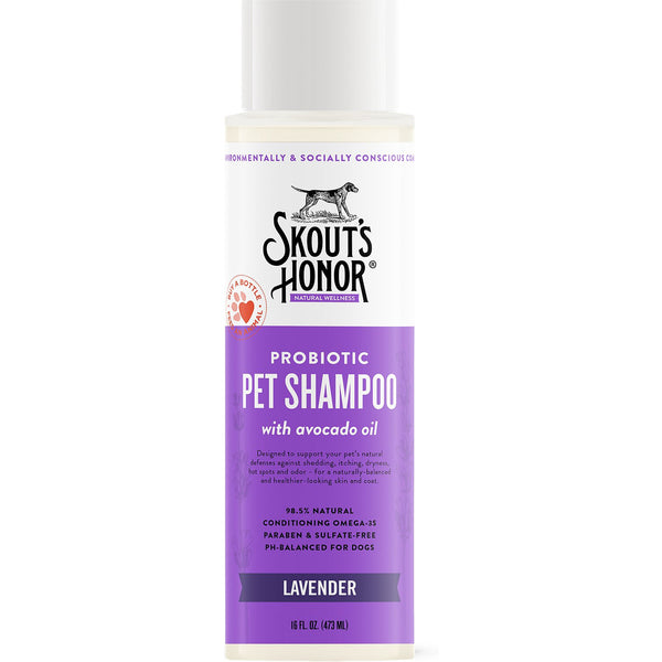 Skout's Honor Pet Shampoo Probiotic Lavender