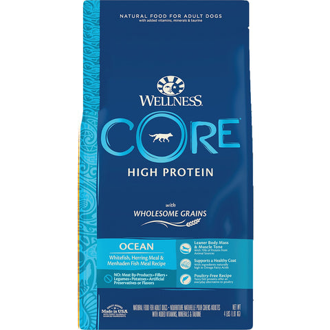 Wellness CORE Wholesome Grains Ocean Recipe High Protein Dry Dog Food