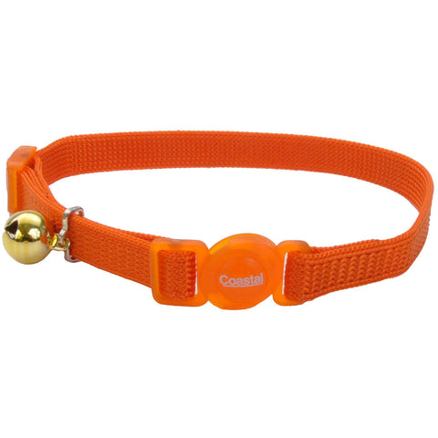 Coastal Pet Products Safe Cat® Adjustable Snag-Proof Breakaway Collar in Sunset Orange