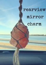 Load image into Gallery viewer, Himalayan Salt Car Charm // Crystal Car Accessory - Shelter Shadow Designs