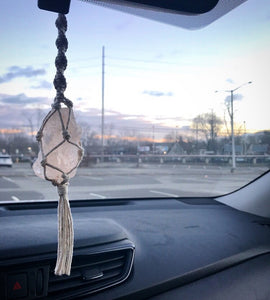 Himalayan Salt Car Charm // Crystal Car Accessory - Shelter Shadow Designs