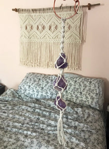 Amethyst Crystal Car Charm // Crystal Car Accessory For Women - Shelter Shadow Designs