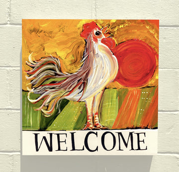 GALLERY CANVAS - Welcome Rooster