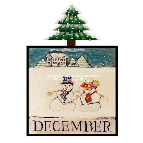 December Snowman Couple-Original Month Series