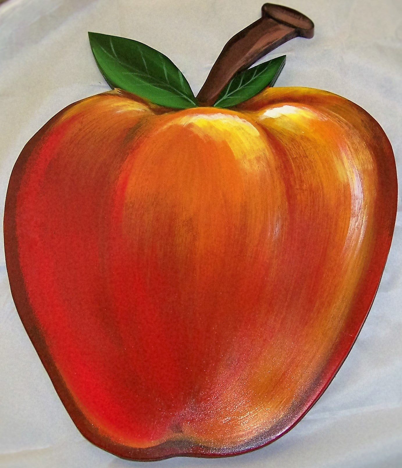 Apple Wood Wall Sculpture 14""