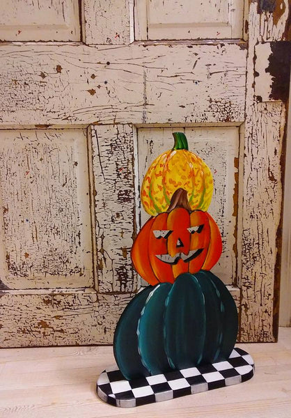 Pile of Pumpkins Wooden Sculpture - 2 STYLES