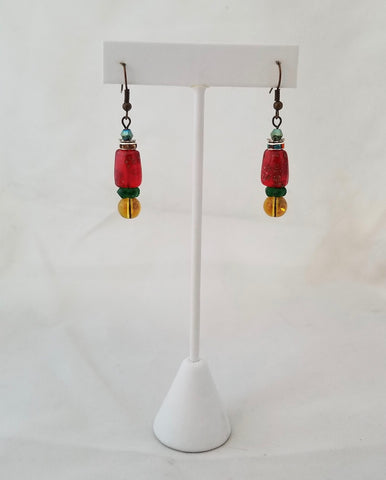 "LT Earrings - ""HOLIDAY CANDY DISH"""