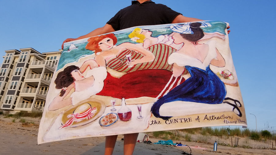 BANNED ON FACEBOOK! King Size Plush Beach Towels - CENTER of ATTRACTION