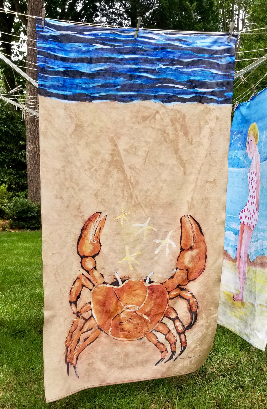 NEW Nancy Thomas Gallery King Size Plush Beach Towels - CENTER of ATTRACTION