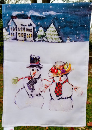 YARD FLAGS - SNOW PEOPLE