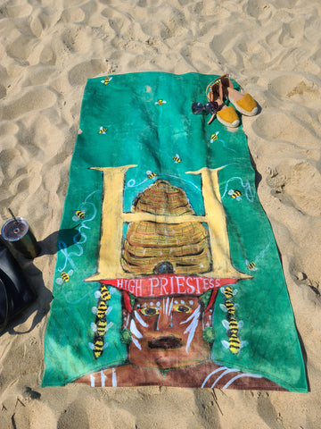 King Size Plush Beach Towels ~ H is for High Priestess of Honey