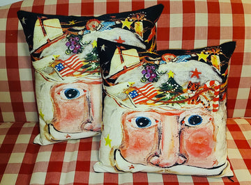 NANCY THOMAS PILLOWS - Santas - Sugarplum Santa