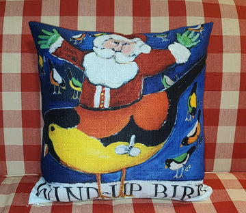 NANCY THOMAS PILLOWS - Santas - Wind-Up Bird