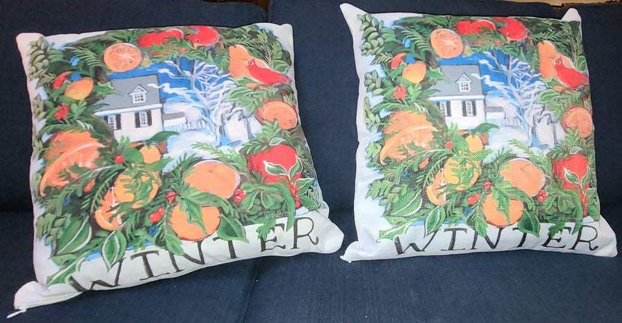 NANCY THOMAS PILLOWS - Colonial Williamsburg Seasons - Winter