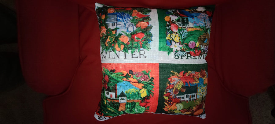 NANCY THOMAS PILLOWS - Colonial Williamsburg Seasons - All Seasons