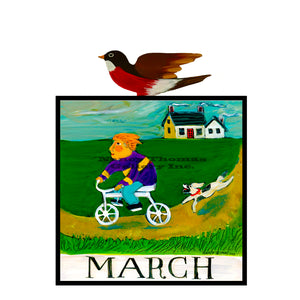 March-Children's Month Series (Bicycle Boy)