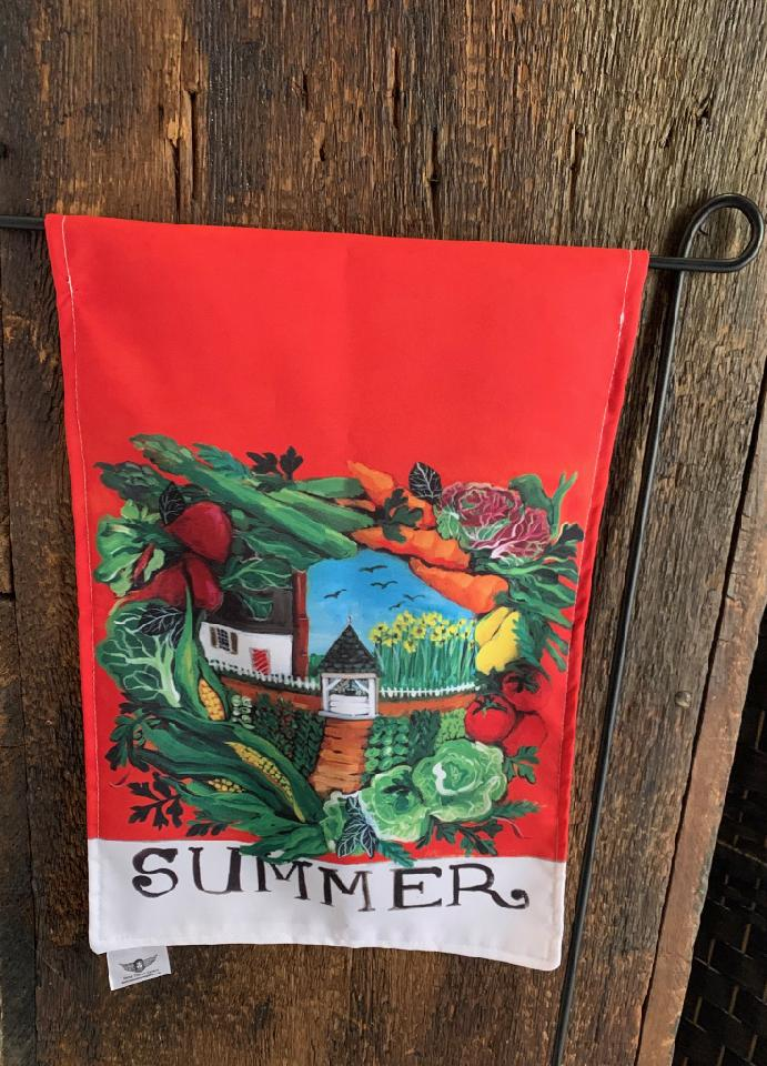 YARD FLAGS - COLONIAL WILLIAMSBURG SUMMER