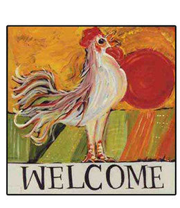 Rooster, Welcome, Fall, color