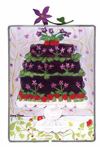 Sweet Violets Cake - (image shows metal frame and topper-metal frame not available at this time)