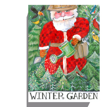 CLEARANCE - Winter Garden Santa