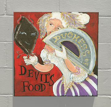 Gallery Canvas - ALPHABET of SWEETS - D - Duchess of Devil's Food