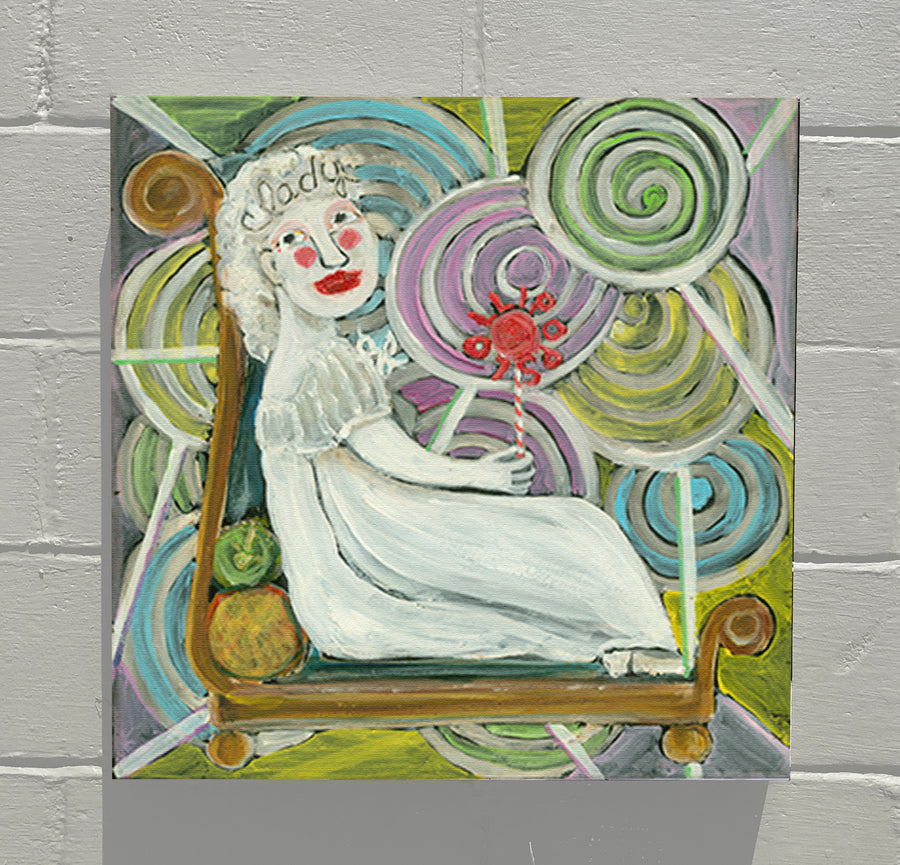 Gallery Canvas - ALPHABET of SWEETS - L - Lady of Lollipops