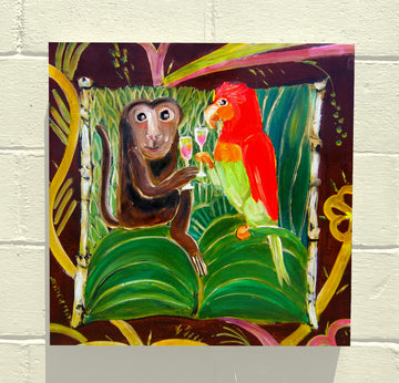 Gallery Canvas - Monkey and Parrot