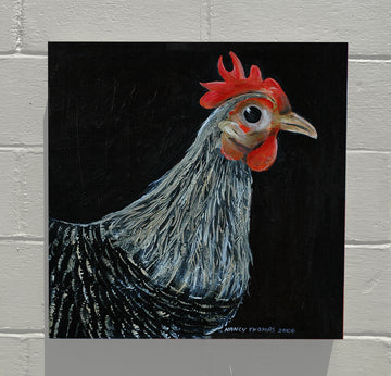 Gallery Canvas - Black and White Chicken