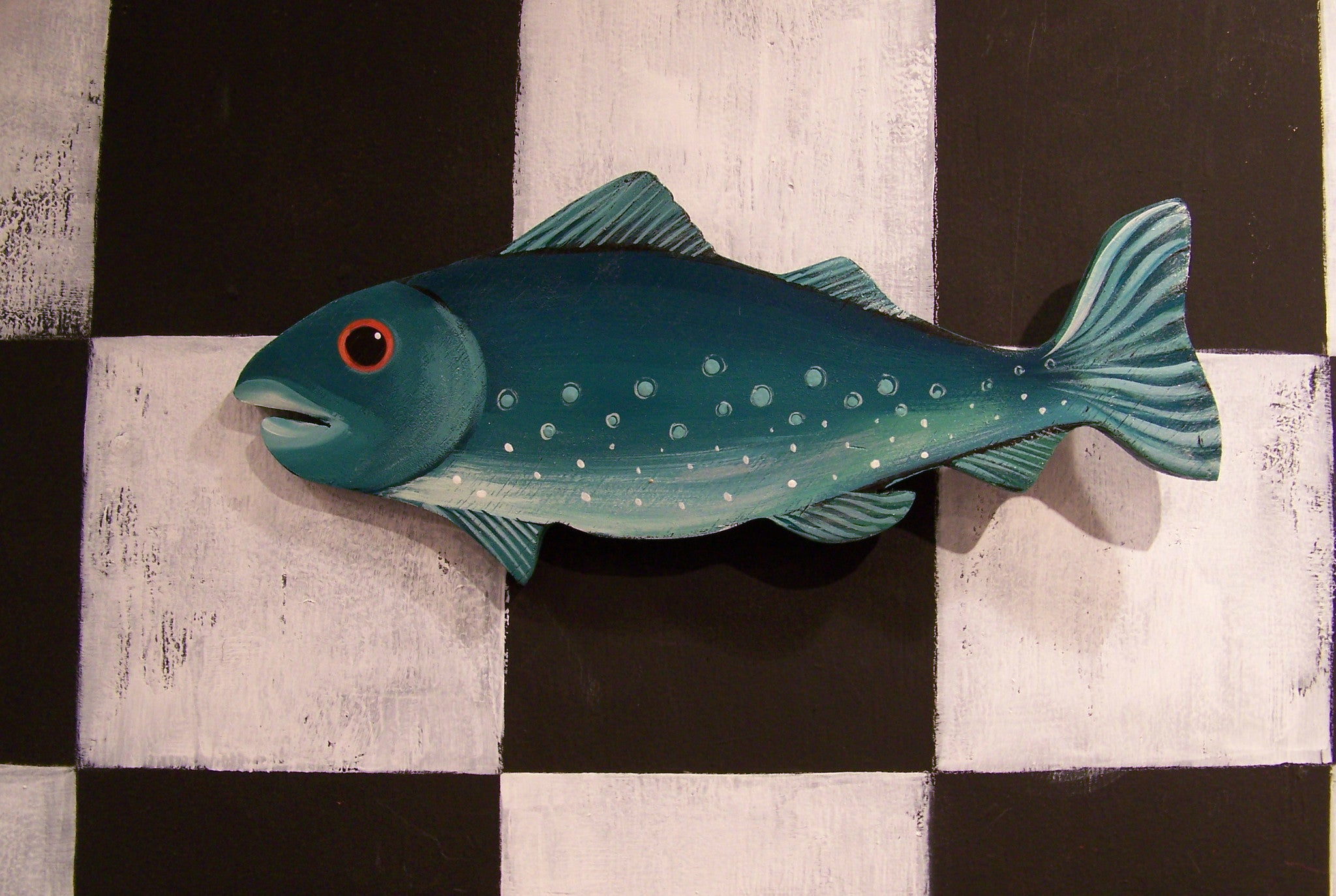 FISH! - Blue Trout Wooden Wall Sculpture 13""