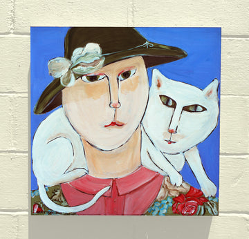 Gallery Canvas - Lady with Cat