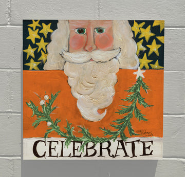 Gallery Canvas - Celebrate Santa - Orange