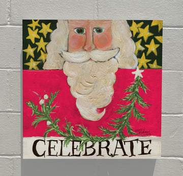 Gallery Canvas - Celebrate Santa - Pink