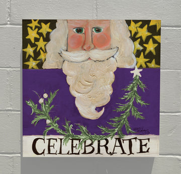 Gallery Canvas - Celebrate Santa - Purple