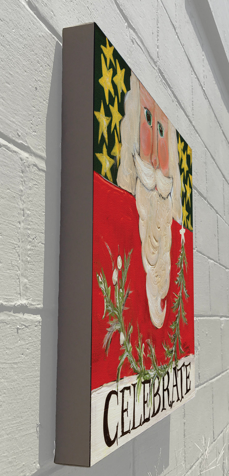 Gallery Canvas - Celebrate Santa - Red