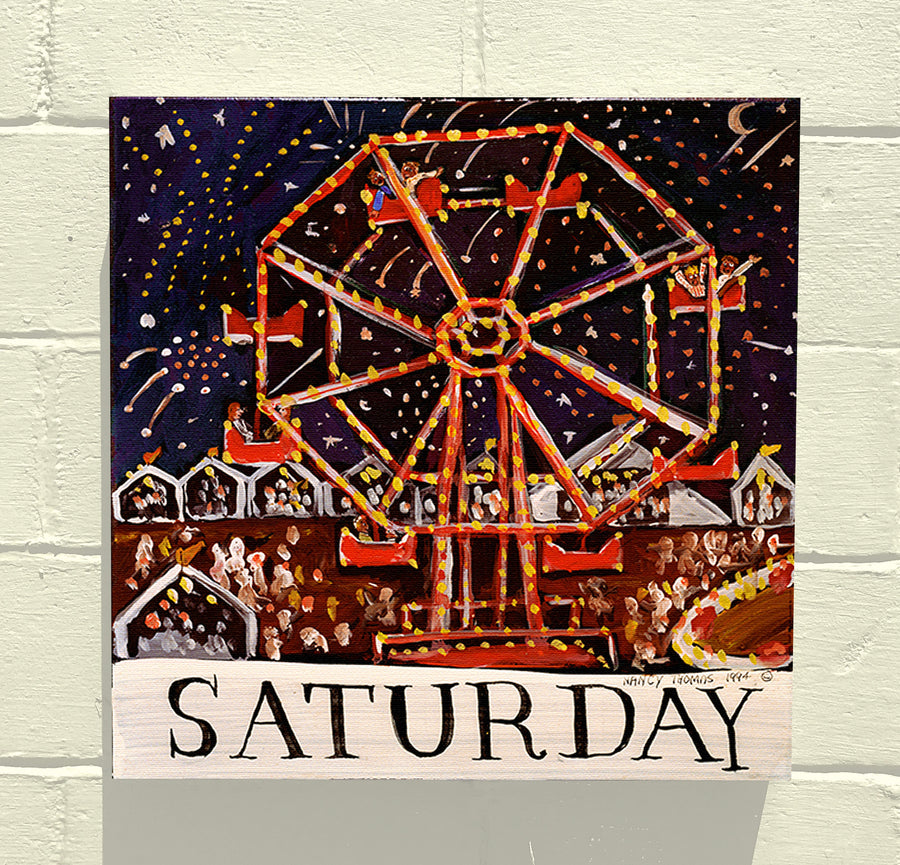 Gallery Canvas - Days of the Week - Original Series - Saturday