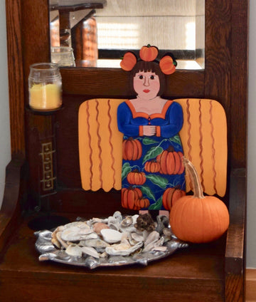 Seasonal Angel - Pumpkin Patch Angel