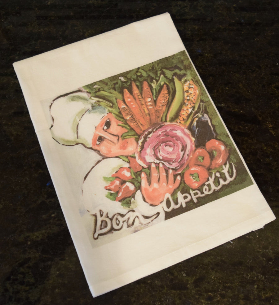 NANCY THOMAS KITCHEN TEA TOWELS - Bon Appetit