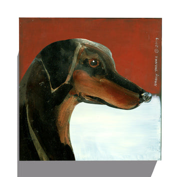 Gallery Grand - Dog Face - Doberman