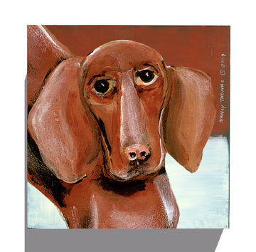 Gallery Grand - Dog Face - Dachshund